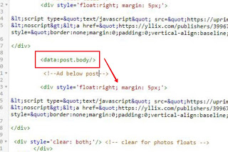 save code in blogger