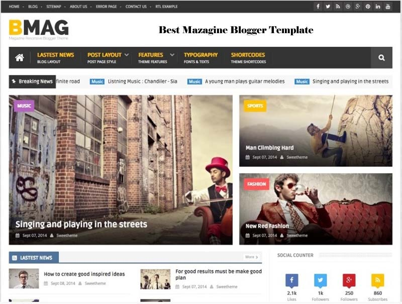 bmag blogger template