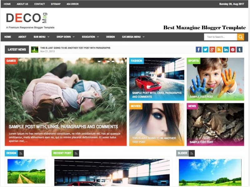 decomag blogger template