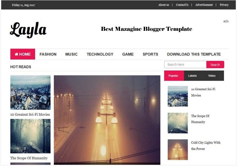 layla blogger template